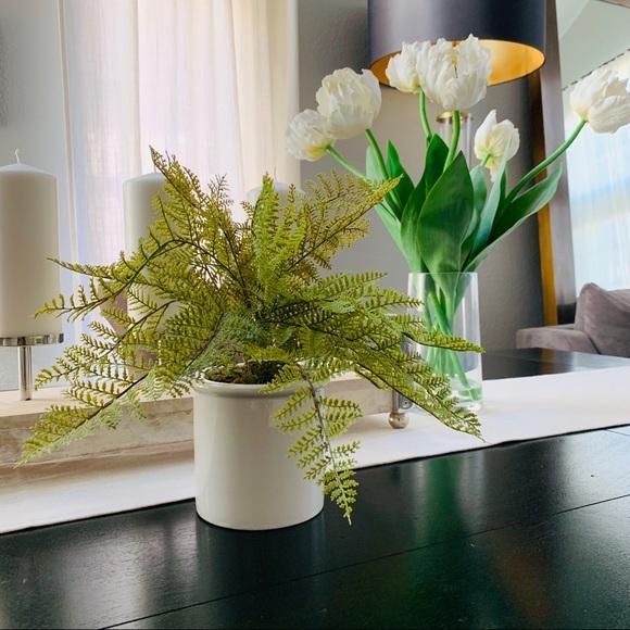 Threshold faux fern plant